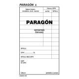 Paragón číslovaný 15x8,5 cm samoprepis