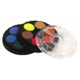 Okrúhle vodové farby